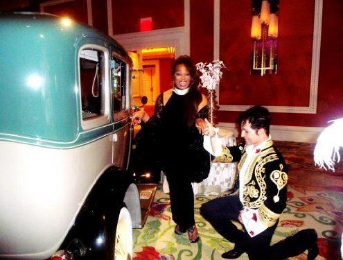 Linda Griner Mane Gomar arriving Wynn Hotel May 7th 2013